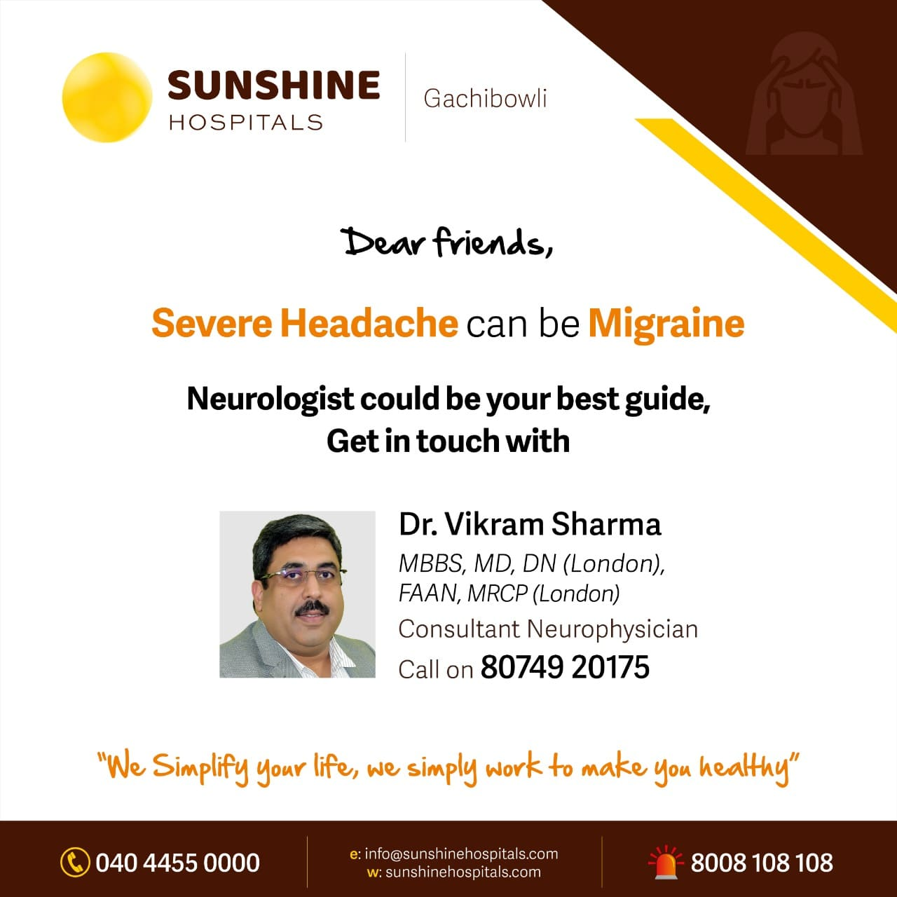 Headache specialist in Hyderabad